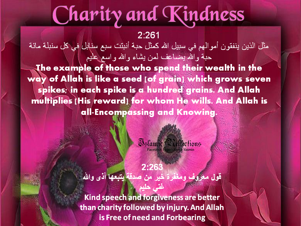 Reminders From The Noble Quran Kindness And Charity Islam The