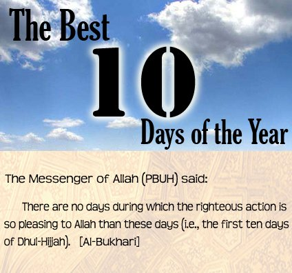 Image result for 10 days of zil hajj