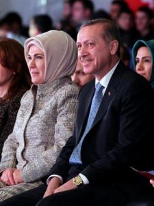 Rajab Tyeb Ordogan, Prime minister of turkey and his wife