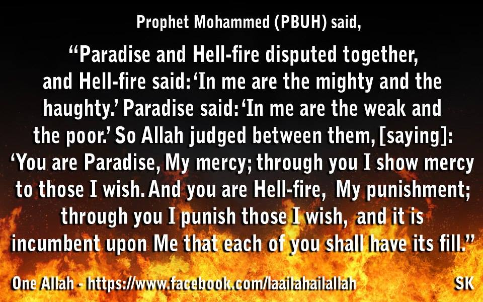 hell and pardaise hadith