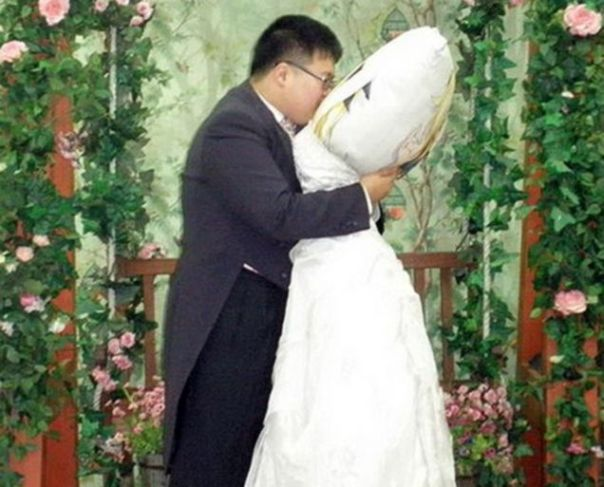 Man marries cushion